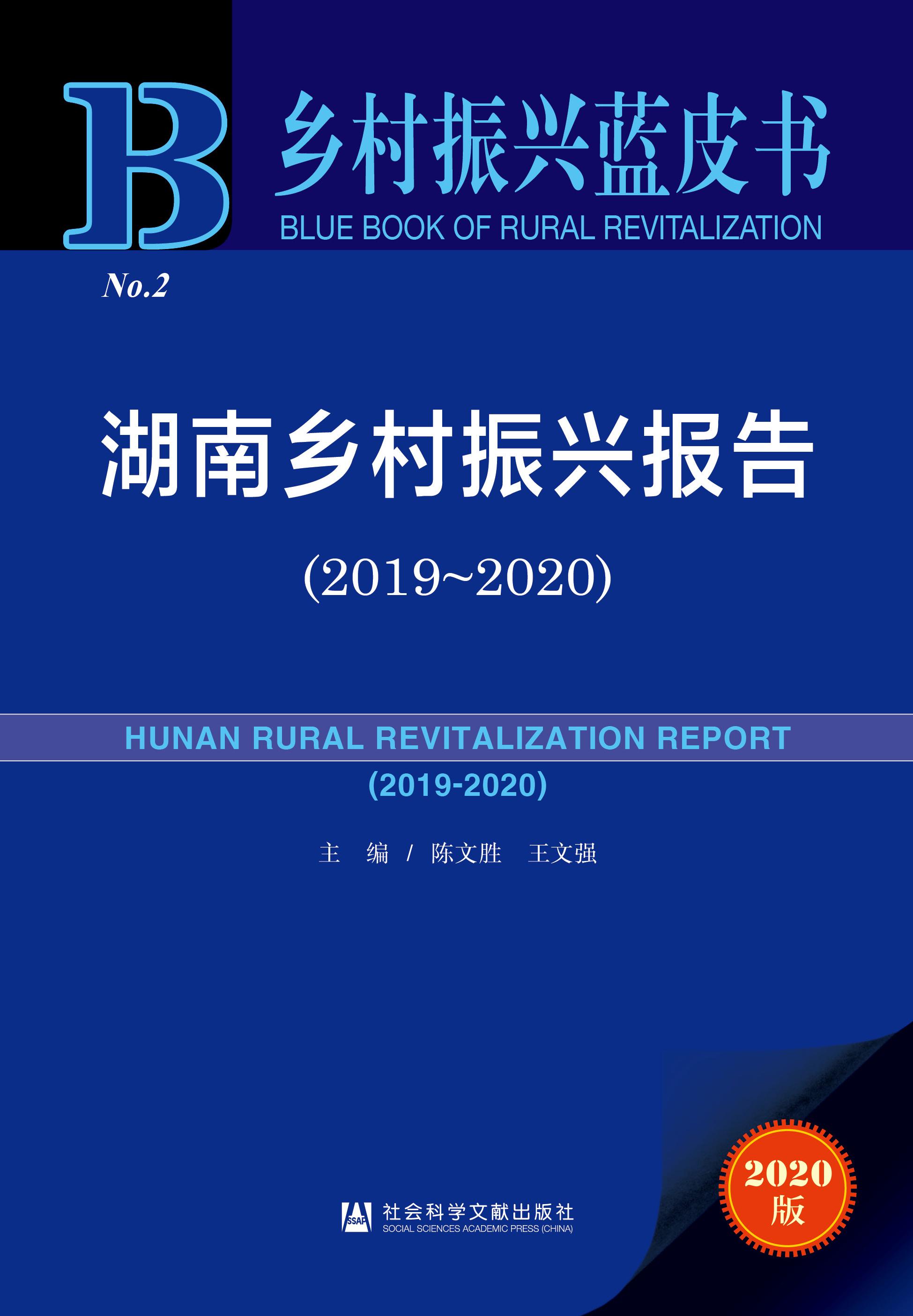 湖南乡村振兴报告(2019~2020)